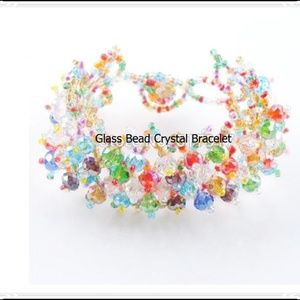 Jewelry - Beautiful  Faceted Glass Bead Bracelet